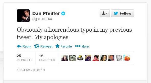 Dan Pfeiffer Twitter typo
