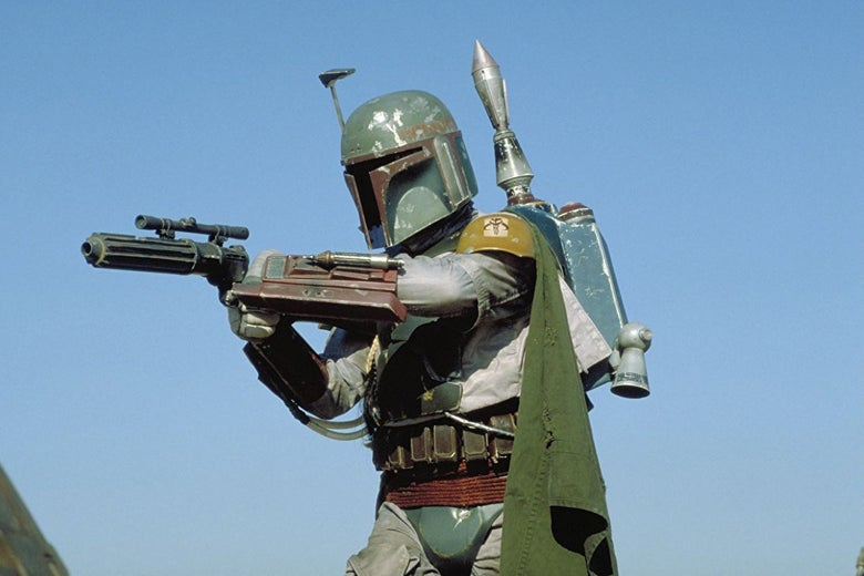 Boba Fett, shortly before he fell into the Sarlaac pit.