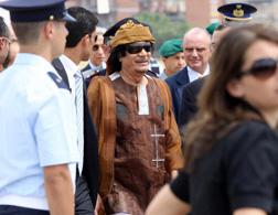 Libyan leader Muammar Qaddafi. Click image to expand.