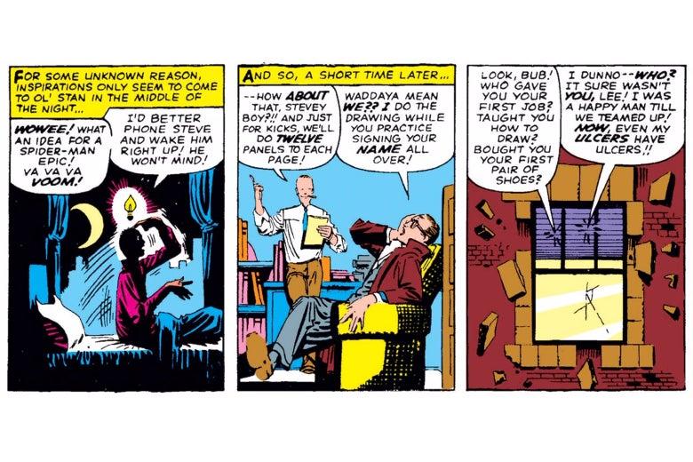Stan Lee and Steve Ditko in Amazing Spider-Man Annual No. 1.