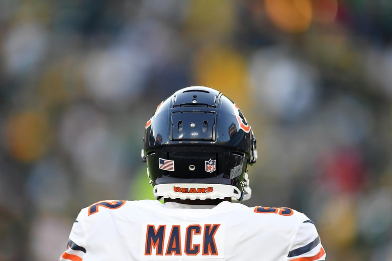 a9bf43d94 Khalil Mack runs riot against the Packers  The defensive end makes ...