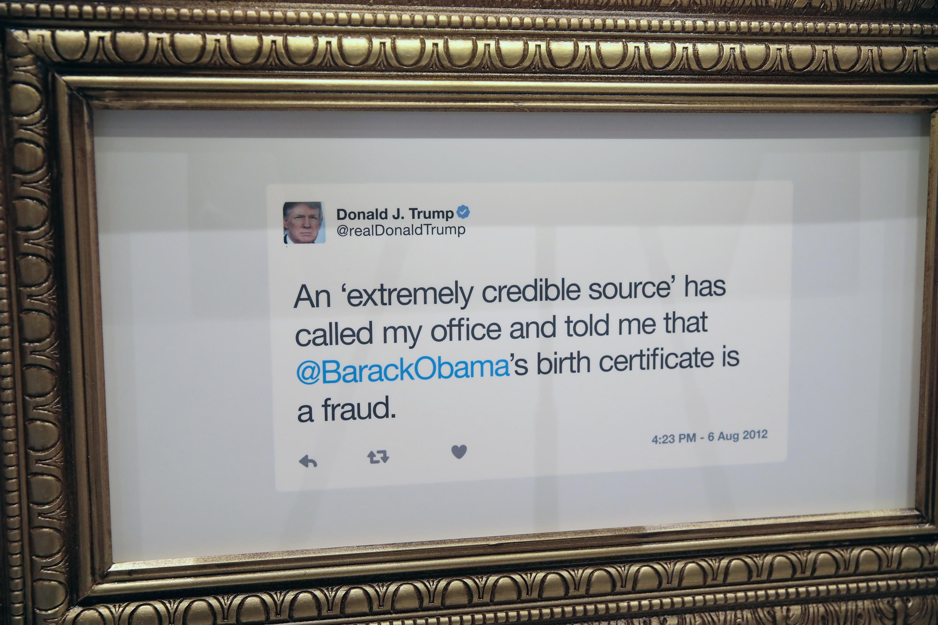 Comedy Central's 'The Daily Show  previews a pop-up library exhibiting President Trump's tweets at Union Station on October 19, 2017 in Chicago, Illinois.