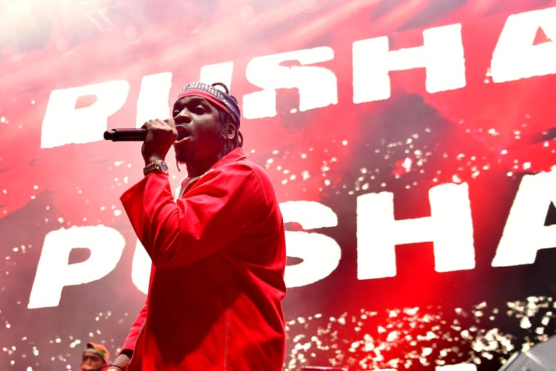 Pusha T performing in Los Angeles in February, 2018.