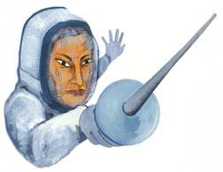 Fencing. Illustration by Nina Frenkel.