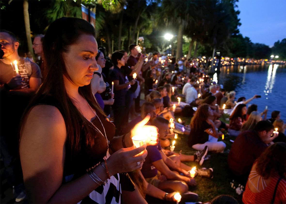 Lake Eola Park: Vigil for Victims of Mass Shooting at Pulse nigh,Lake Eola Park: Vigil for Victims of Mass Shooting at Pulse nightclub