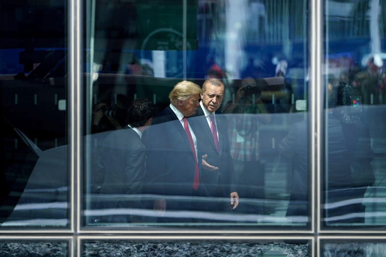 U.S. President Donald Trump and Turkey's President Recep Tayyip Erdogan.