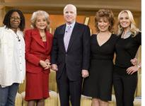 John McCain on the View. Click image to expand.