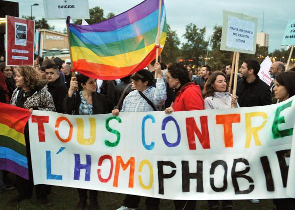 French anti-homophobia protest