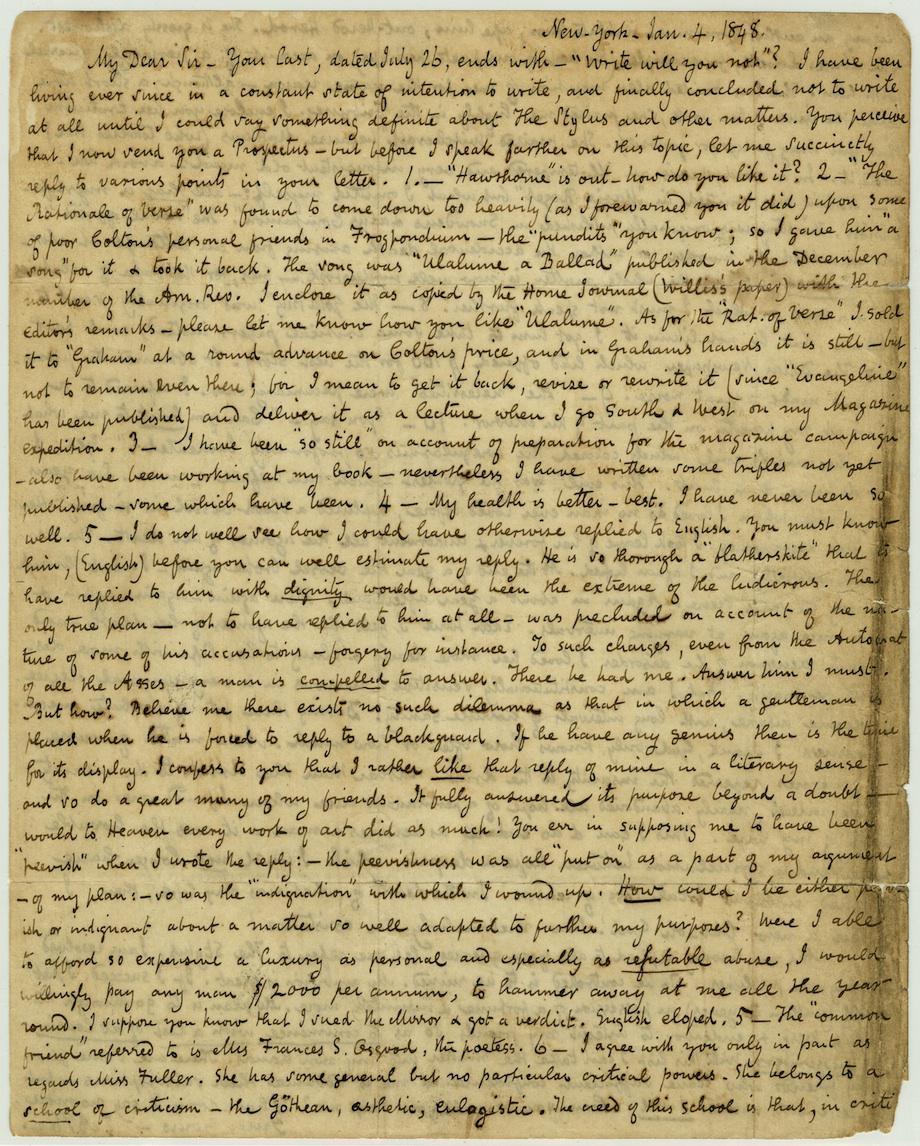 Poe Letter 1