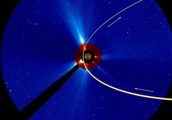 Path of ISON through SOHO's field of view