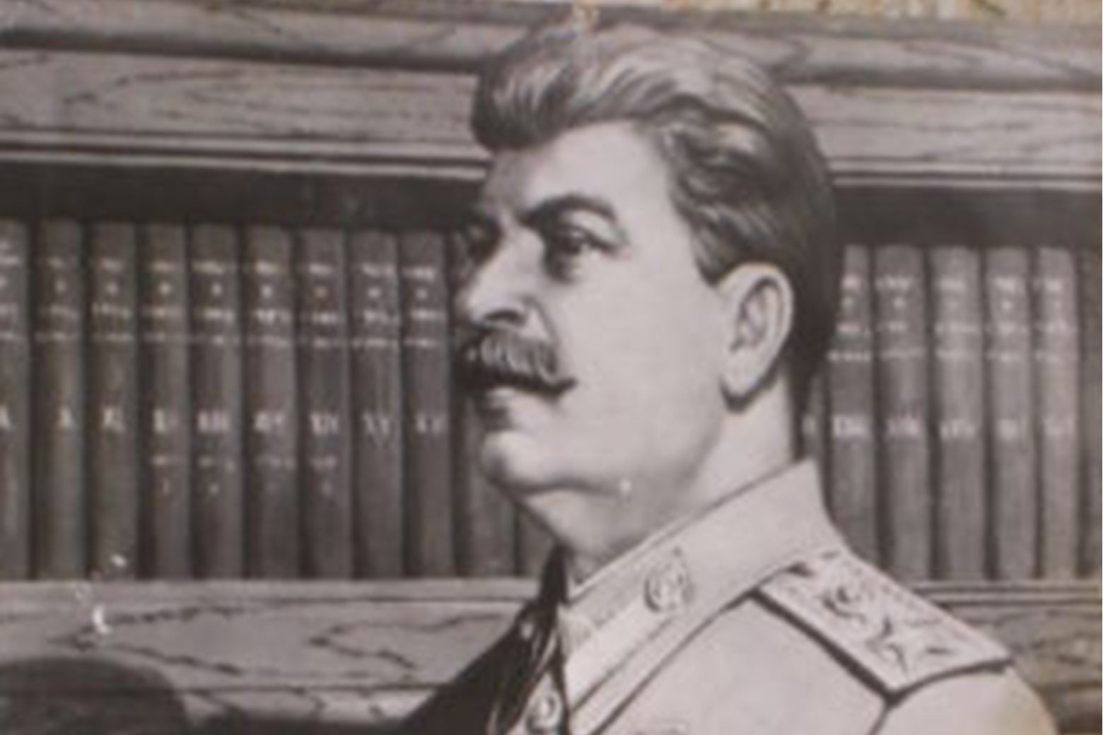 A bad portrait of Stalin.