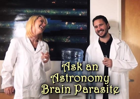 Astronomy lessons form a brain parasite