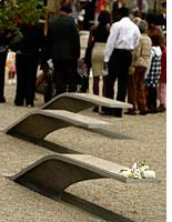 'Memorial units' at the Pentagon Memorial. Click image to expand.