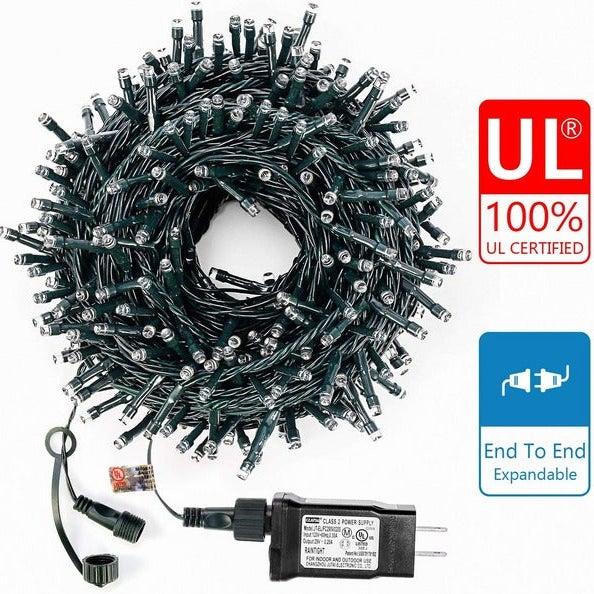 Decute 105FT 300 LED Waterproof Christmas String Lights