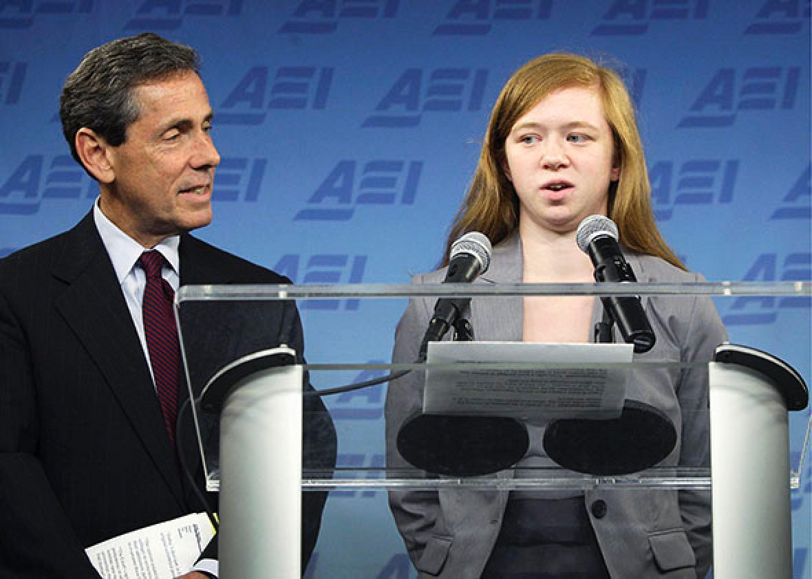 Abigail Fisher (R), a white suburban Houston student.