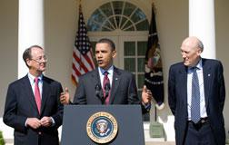 Barack Obama, Erskine Bowles, and Alan Simpson. Click image to expand.
