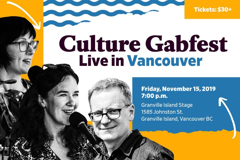 Culture gabfest Vancouver event descriptions and pictures of host