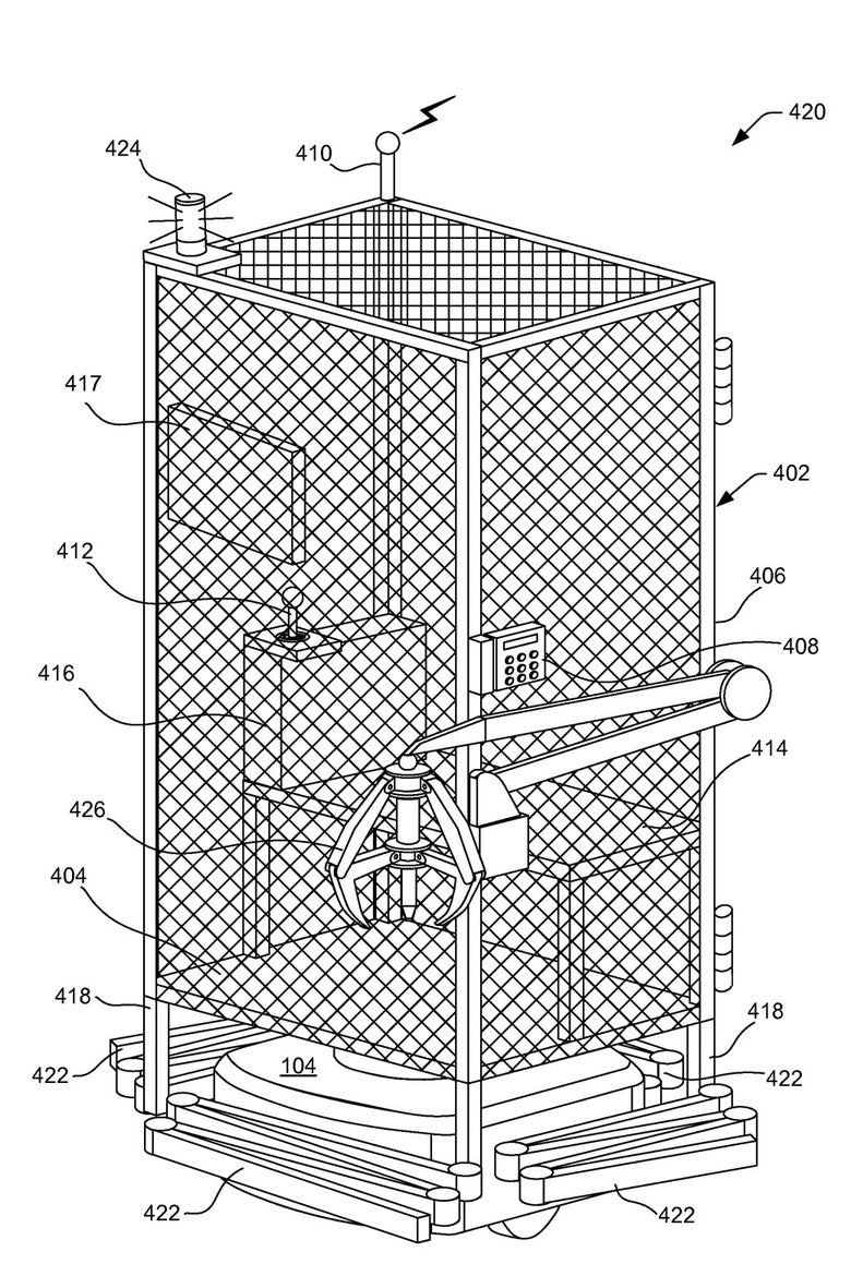 An image of a cage from the Amazon patent.