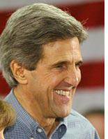 Kerry: all smiles before the debate