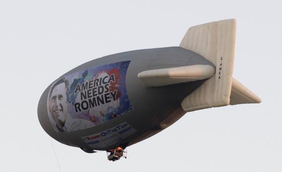 romney blimp