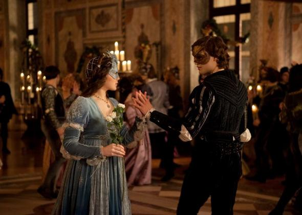 Hailee Steinfeld and Douglas Booth in Romeo and Juliet.