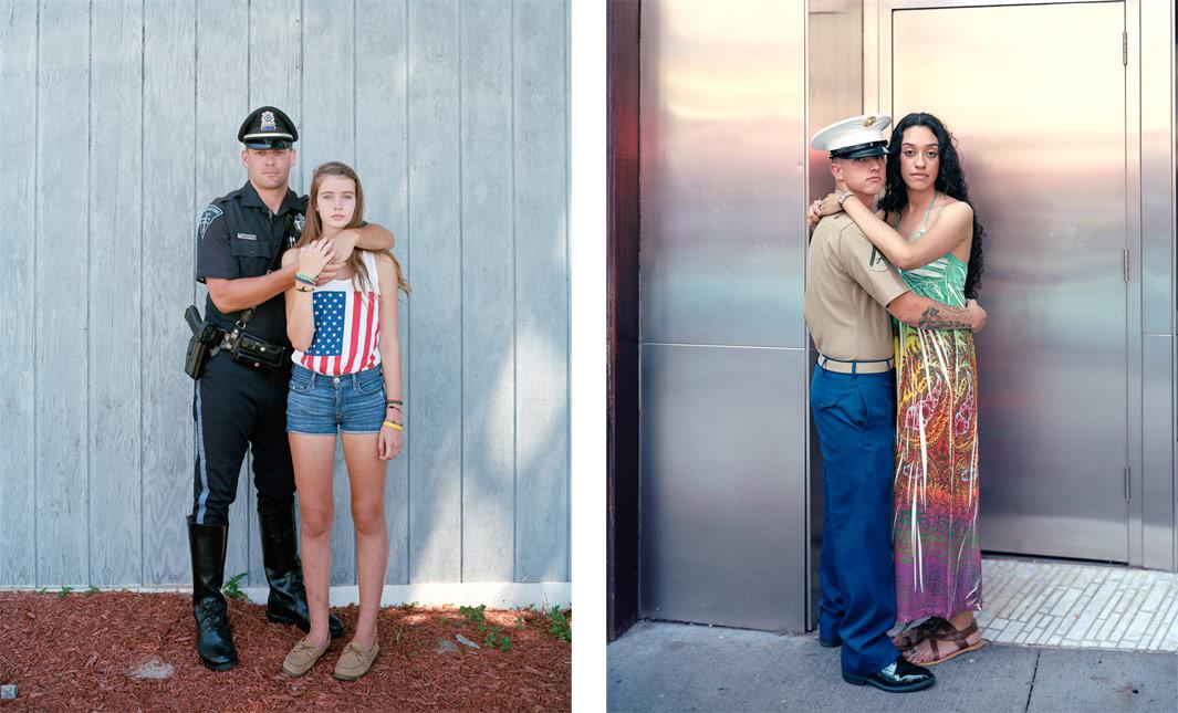 Left: Nathan and Robyn, 2012, Provincetown, MA Right:Michael and Kimberly, 2011, New York, NY