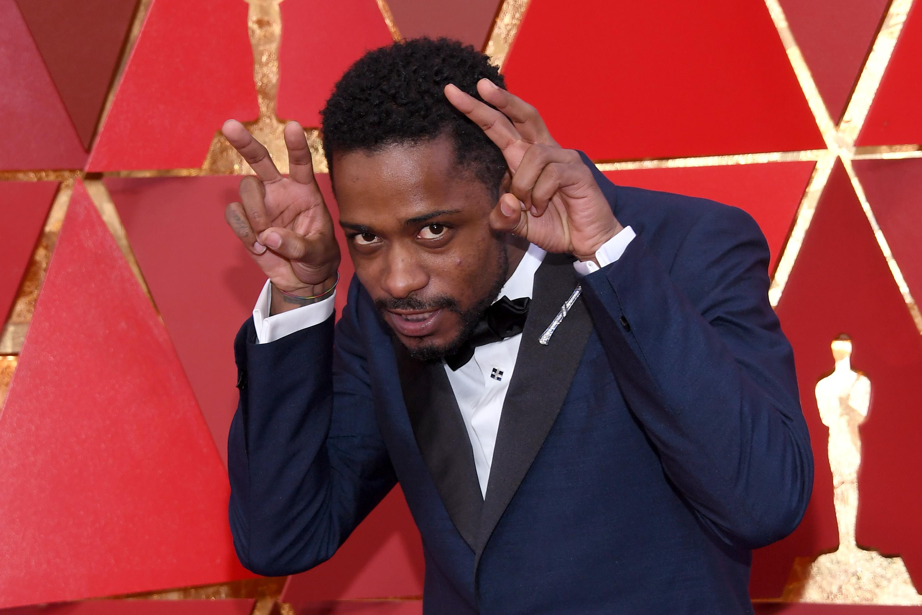 Lakeith Stanfield at the 90th Annual Academy Awards.