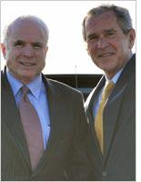 John McCain and George W. Bush. Click image to expand.