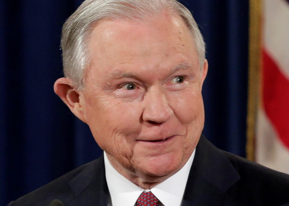 U.S. Attorney General Jeff Sessions speaks at a news conference to address the Deferred Action for Childhood Arrivals (DACA) program at the Justice Department in Washington, U.S., September 5, 2017.