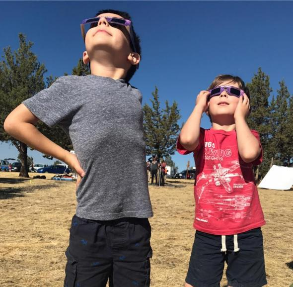 Two members in our intrepid band of eclipse chasers.
