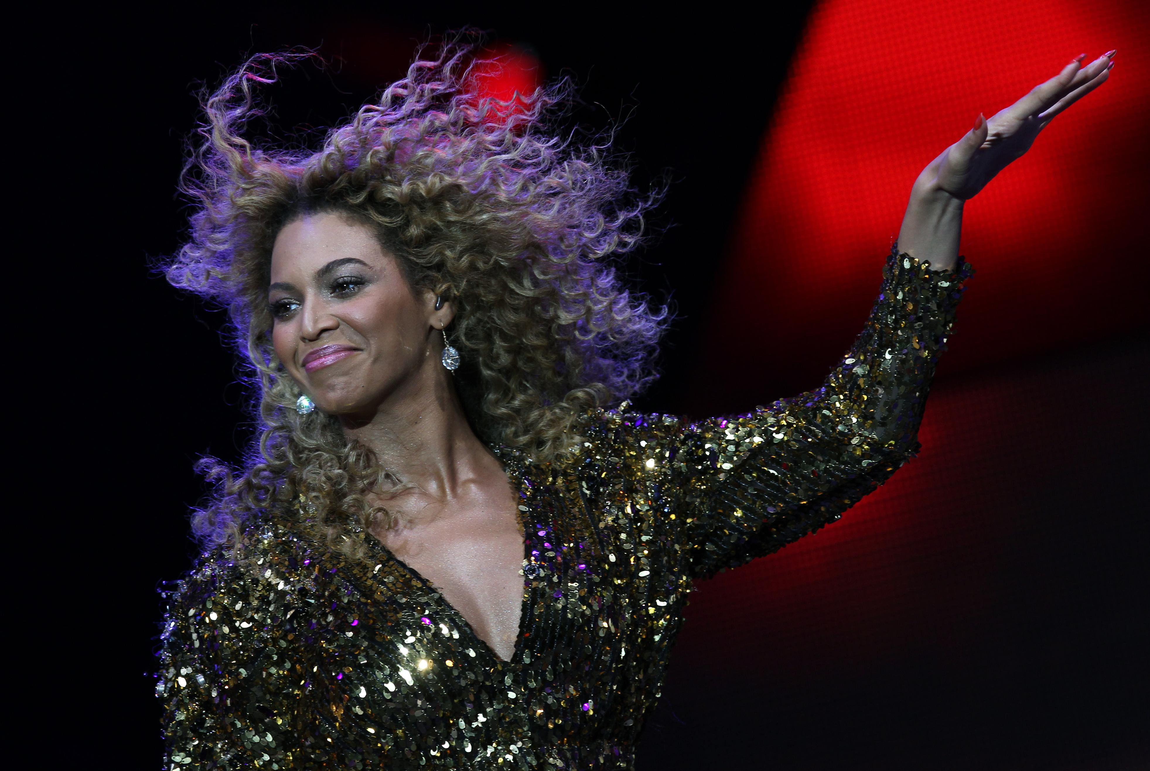 Beyonce at the Glastonbury festival