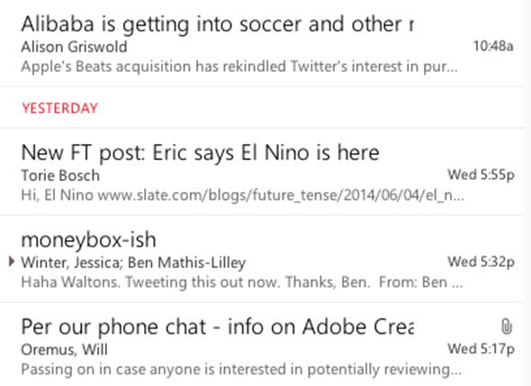 Segmented Inbox.