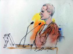 Courtroom drawing of shooting suspect Jared Lee Loughner. Click image to expand.
