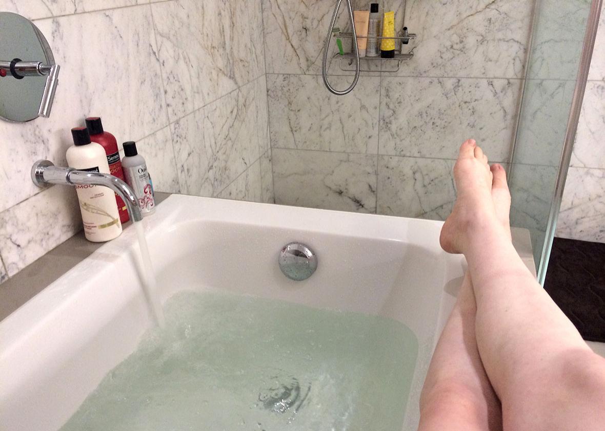 Author, pre-bath.