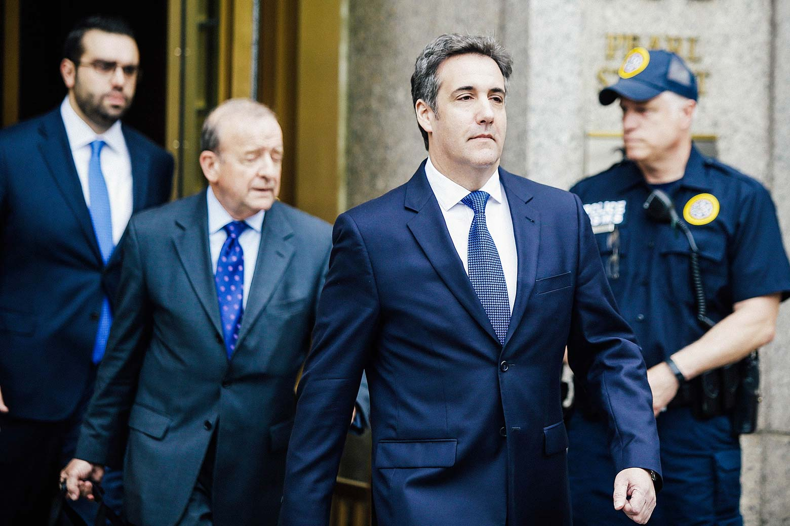 Michael Cohen exits the United States District Court for the Southern District of New York on May 30 in New York City.