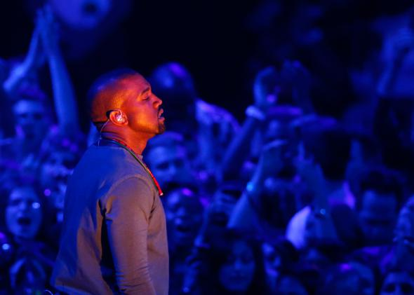 "Kanye West performs ""Blood on the Leaves"" during the 2013 MTV Video Music Awards in New York August 25, 2013."