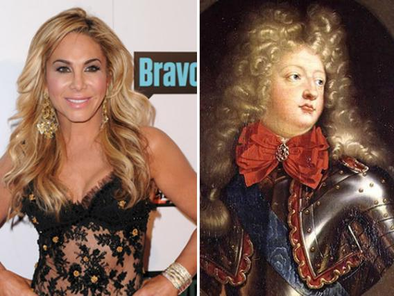 Socialite Adrienne Maloof and Louis, Grand Dauphin of France, son of Louis XIV.