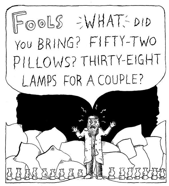 A panel from A Bintel Brief, by Liana Finck.