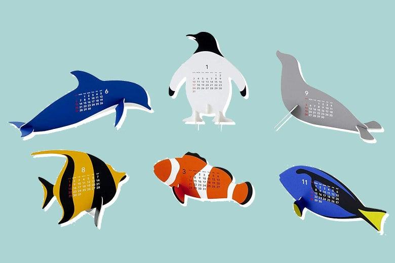 Animal-shaped calendars
