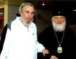 Fidel Castro and Vladimir Gundjaev meet in Havana.
