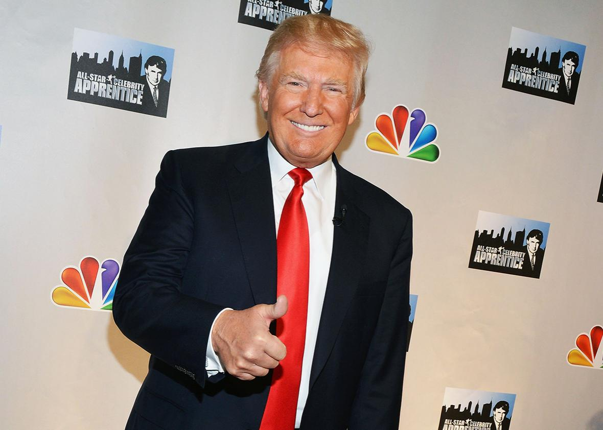 "TV Personality Donald Trump attends the ""Celebrity Apprentice All Stars"" Season 13 Press Conference at Jack Studios on October 12, 2012 in New York City."