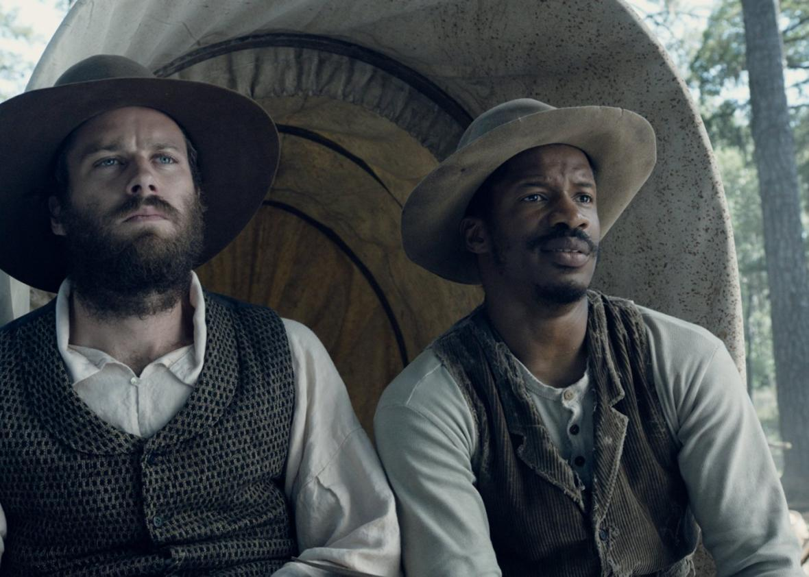 Samuel Turner (Armie Hammer) and Nat Turner (Nate Parker).