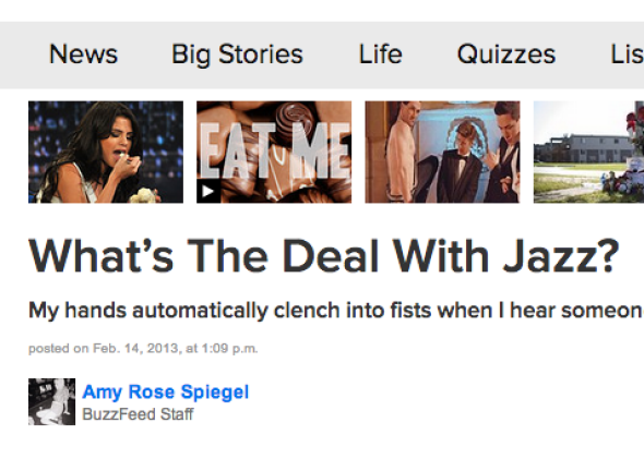 """BuzzFeed: """"What's the Deal With Jazz?"""""""