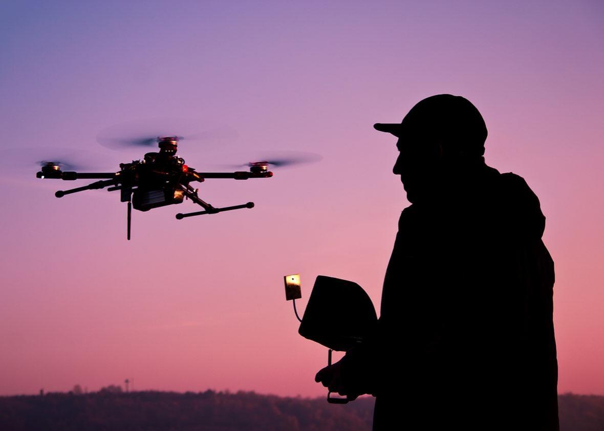 shooting drones.
