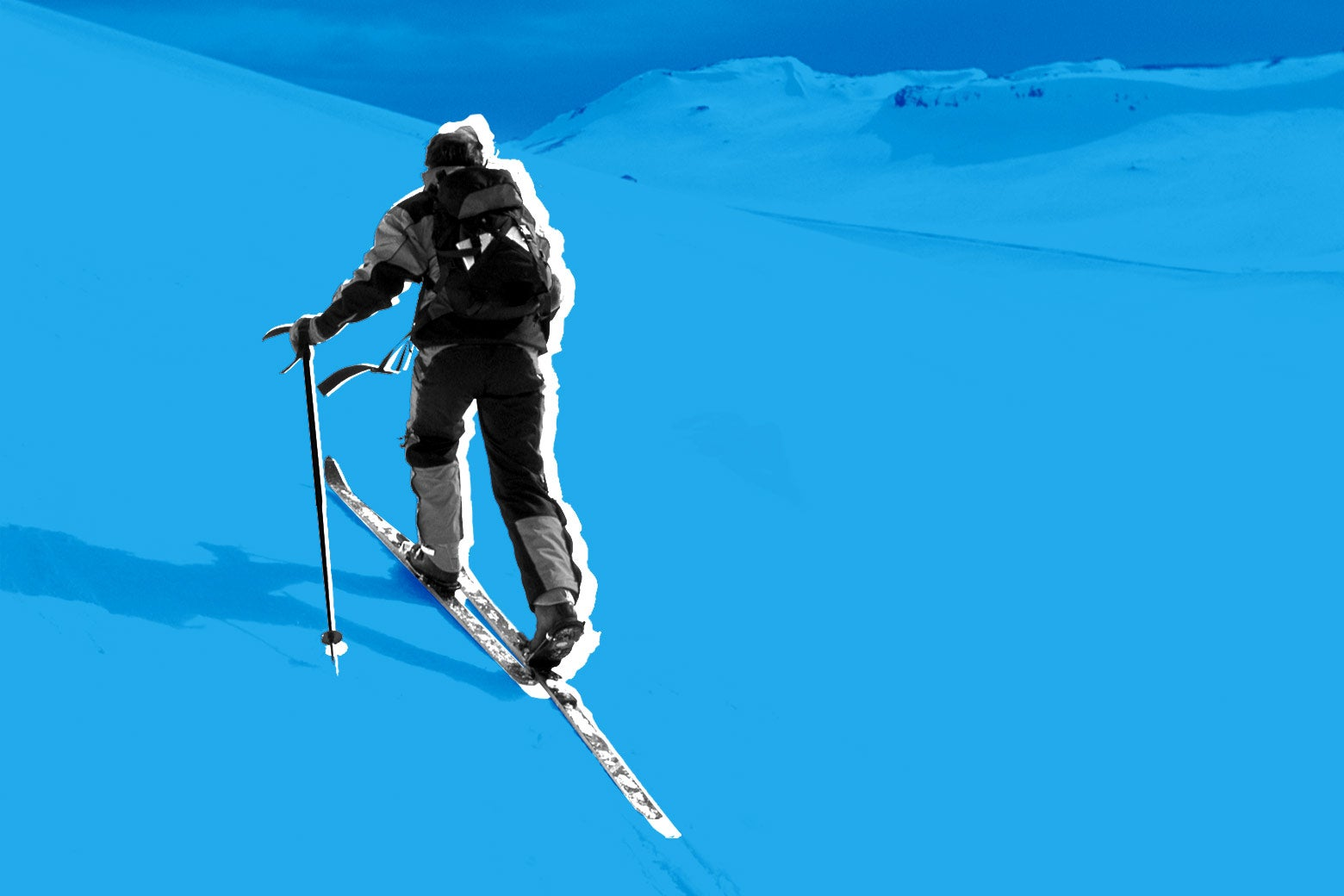 A cross-country skiier.