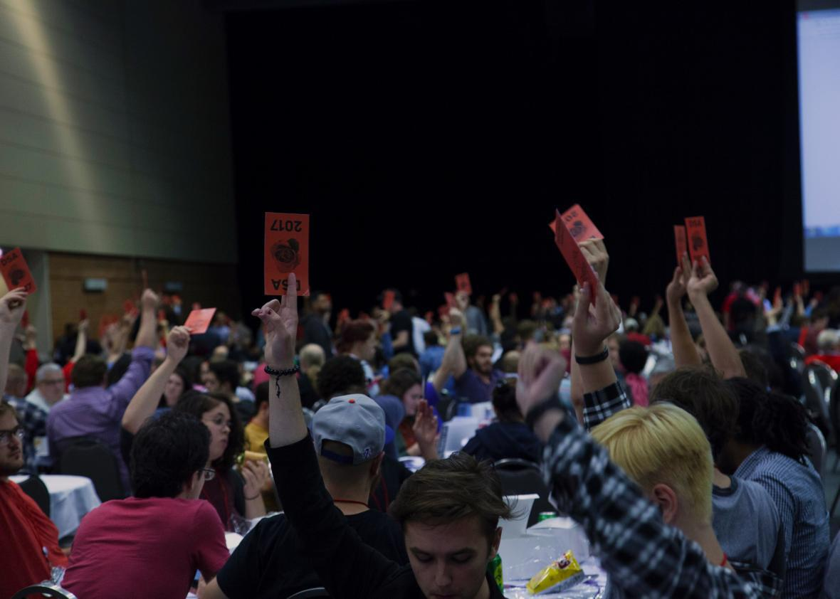 The DSA convention in Chicago showcases splinters among a growing