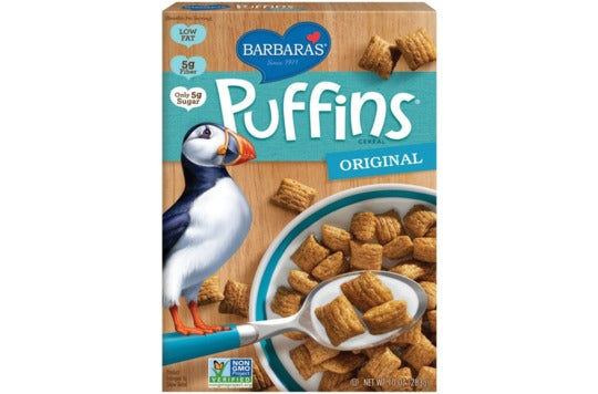 Barbara's Puffins Cereal.
