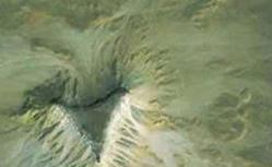 A screen shot from Google Earth that shows what a research archaeologist thinks could be undiscovered ancient pyramids.