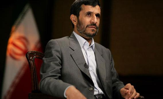 The President of Iran, Mahmoud Ahmadinejad, in an interview with CNN's Chief International Correspondent Christiane Amanpour September 25, 2007 in New York City.