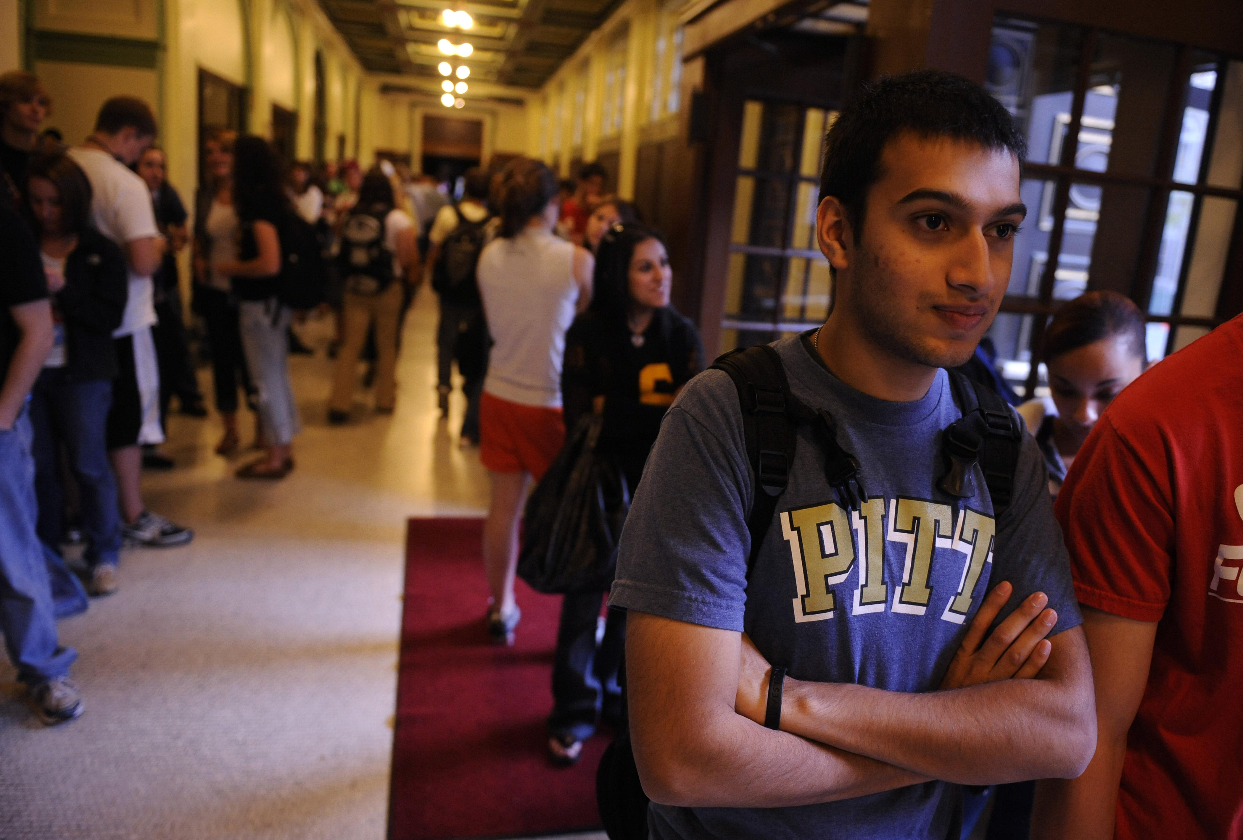 Students at the University of Pittsburgh.
